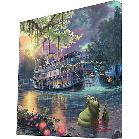 """The Princess and the Frog"" by Thomas Kinkade"