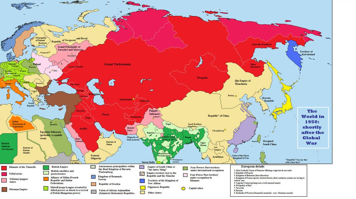 Timur Less Of A Sob By Quantumbranching Alternate History Asia Map History