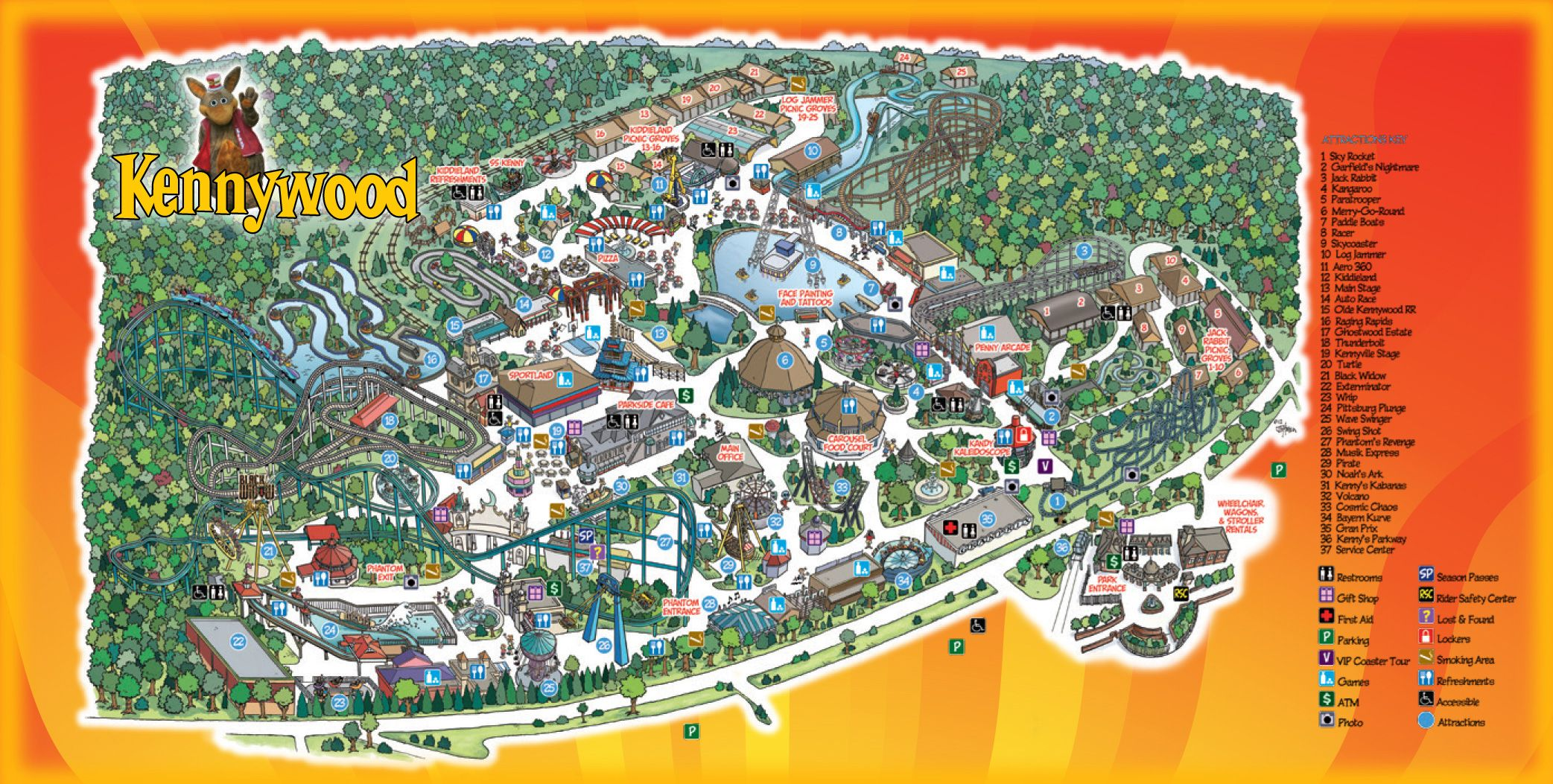 Park Map | Kennywood | Checked off the bucket list....well sorta ...