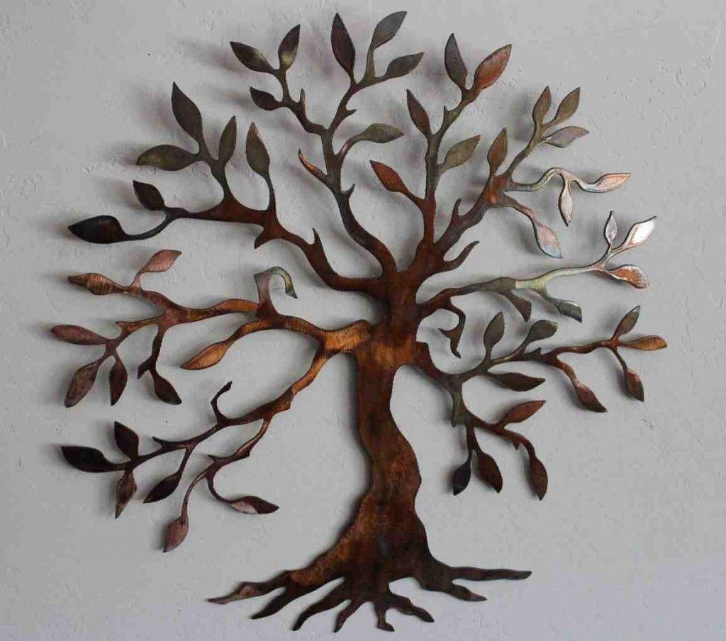 Outdoor metal wall art decor and sculptures metal tree art