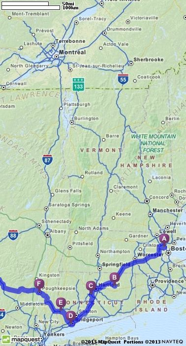 Driving Directions from Winchester, Massachusetts to Ithaca, New York | MapQuest