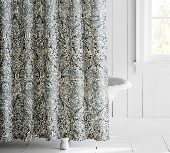 Mackenna Shower Curtain   Pottery Barn   The Cottage Ideas ...