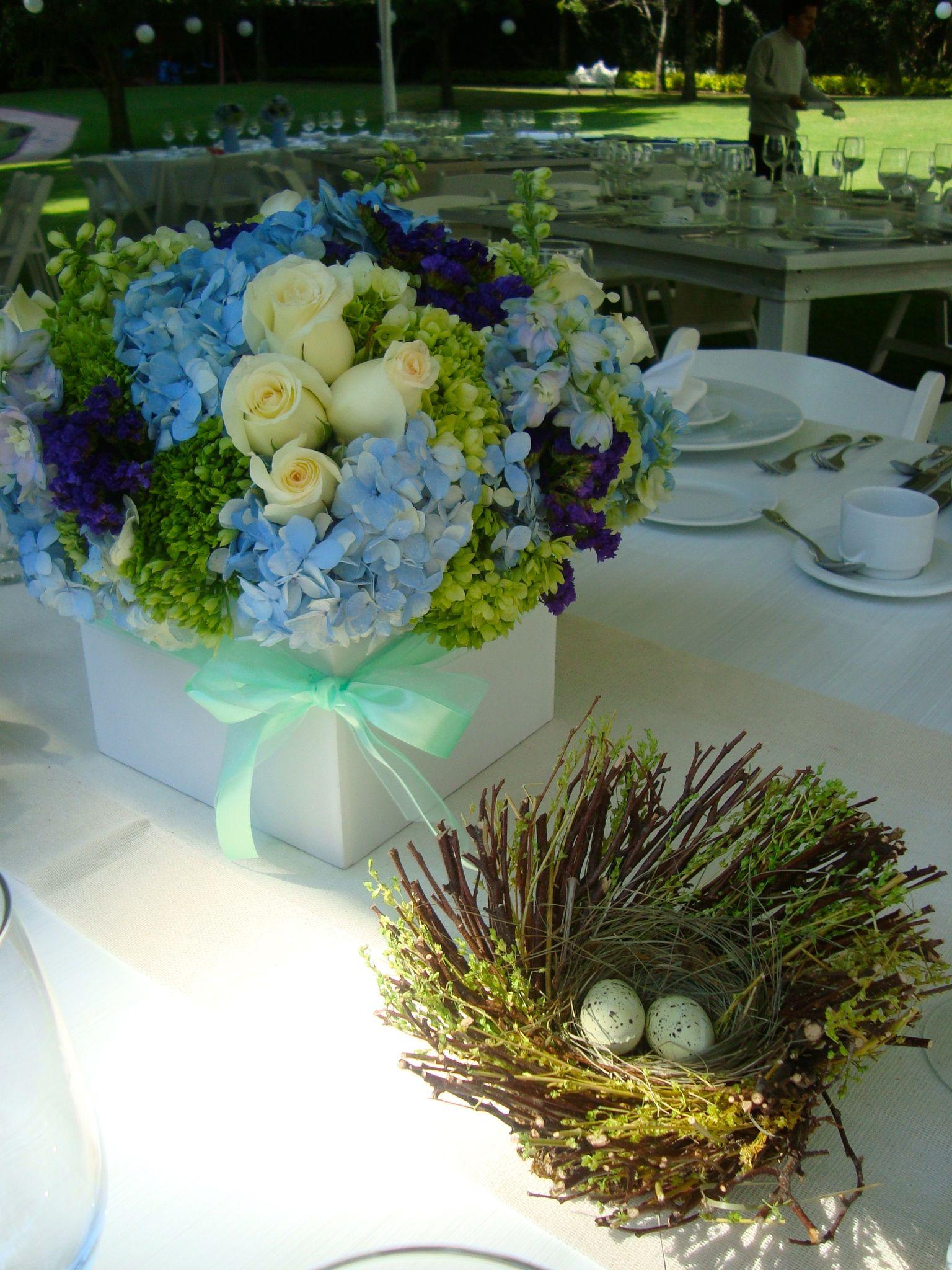 Una linda ceremonia de valores para el bautizo de nicol s for Como hacer adornos con plantas naturales