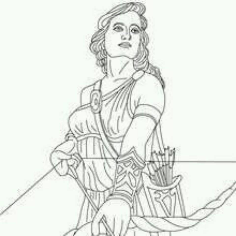 Famous Line Of Artemis : Artemis fairytales mythology pinterest coloring