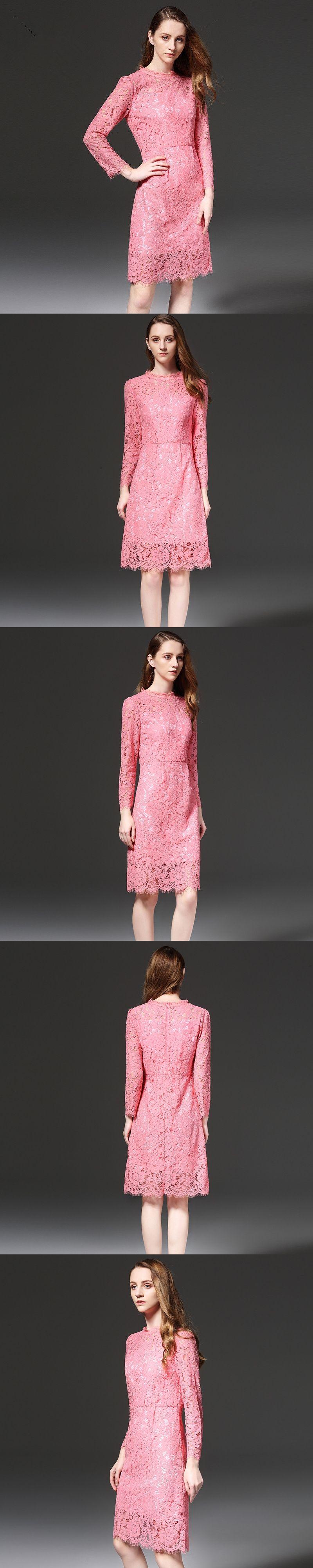 Lace dress women fashion eyelash dresses plus size lxl slim