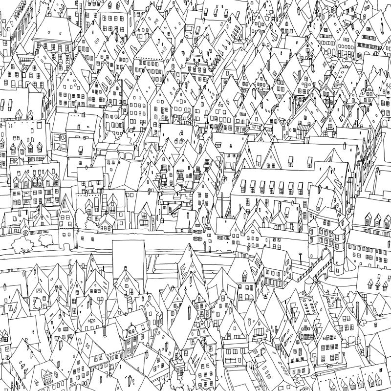 S3 Jpg In 2020 Fantastic Cities Coloring Book Coloring Books Coloring Pages