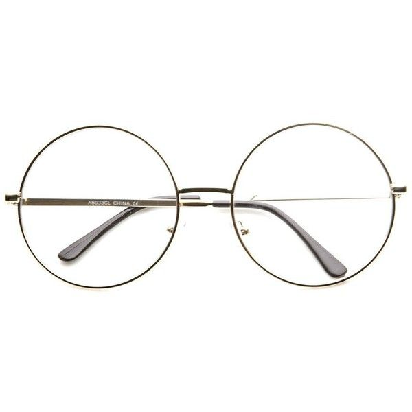 1c3849ea891 Super Oversize Square Clear Lens Fashion Glasses 8830 ( 9.99) ❤ liked on  Polyvore featuring accessories