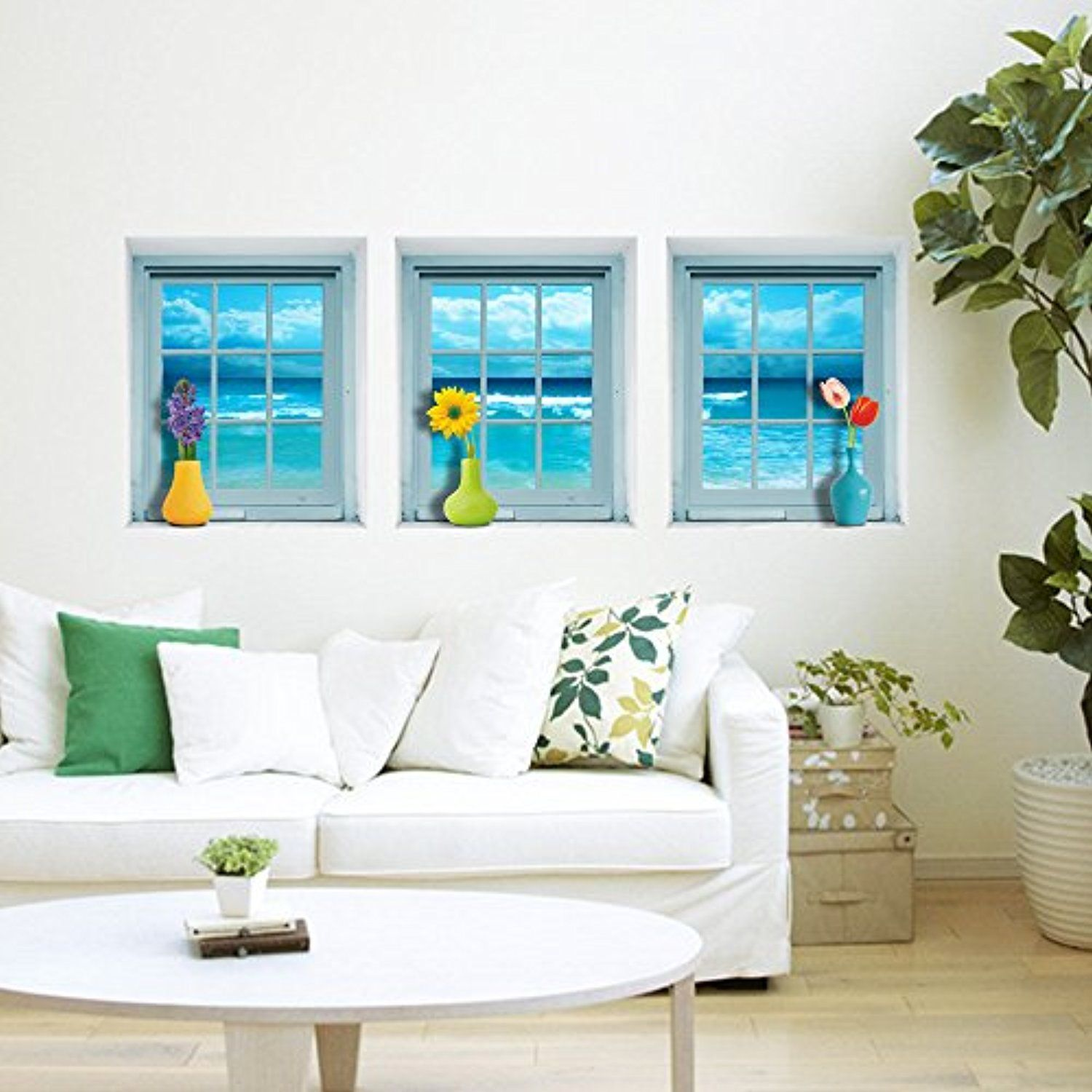 (Windows Picture) Stereo Wall Stickers Wallpaper Hd Self Adhesive Paper Background