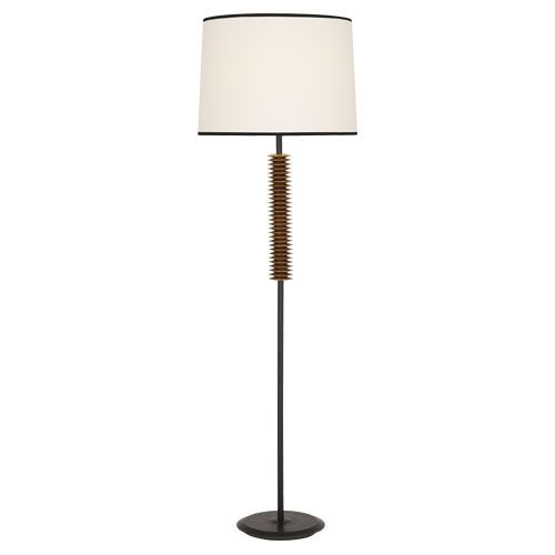Plato Floor Lamp Features An Antique Brass Accents With A Fondine