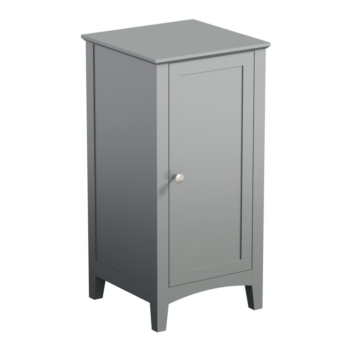 The Bath Co Camberley Satin Grey Storage Unit Grey Storage Bathroom Storage Units Storage