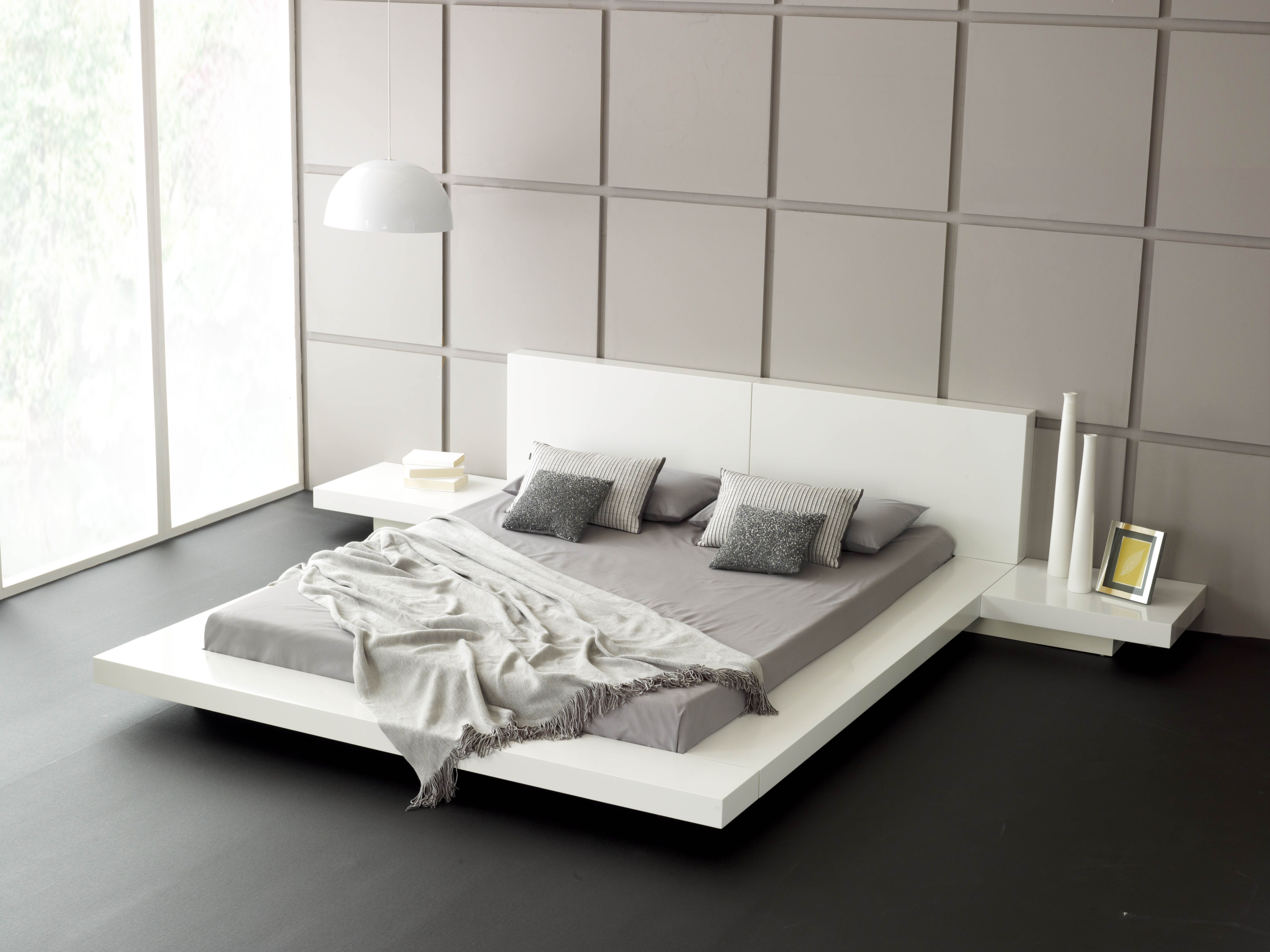 Emer White King Size Bed Living It Up Muebles De Dormitorio