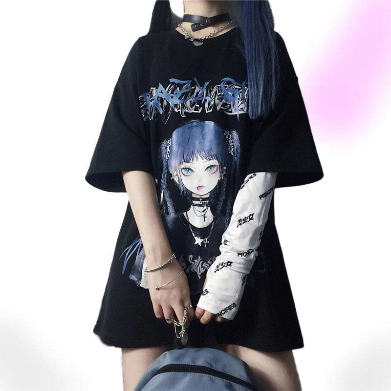 Photo of Spirit Harajuku Goth Shirt – Black / XL