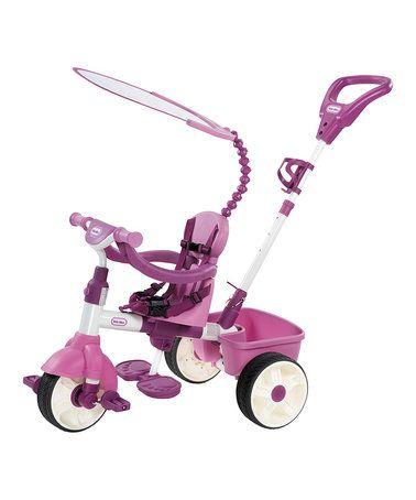 Another great find on #zulily! Pink Basic 4-in-1 Trike #zulilyfinds