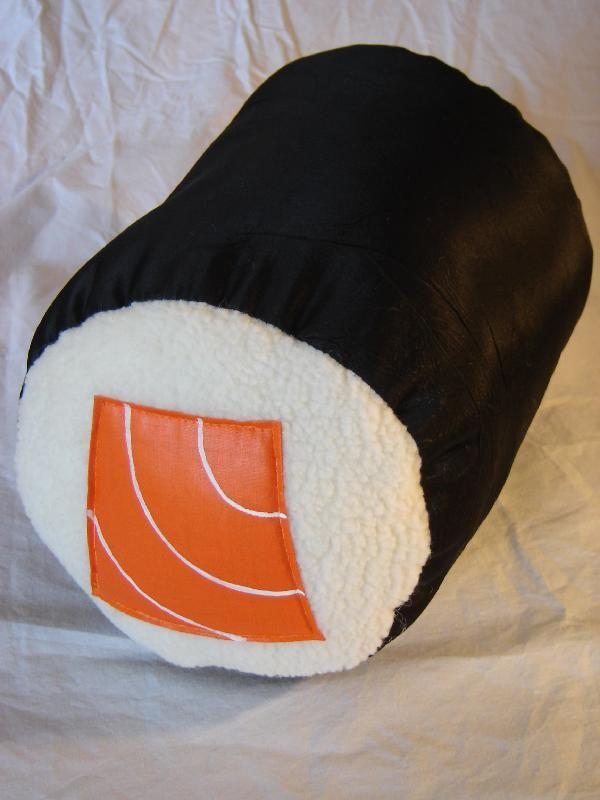 Salmon Roll Pillow Food Pillows Original Pillows Diy Pillows