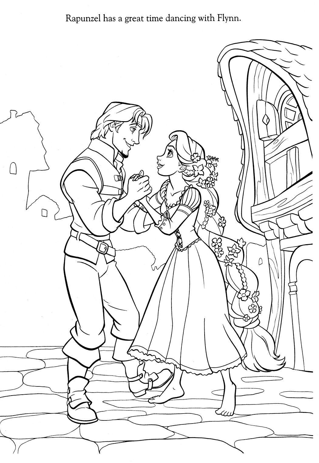 Disney Rapunzel Coloring Pages Printables Pinterest