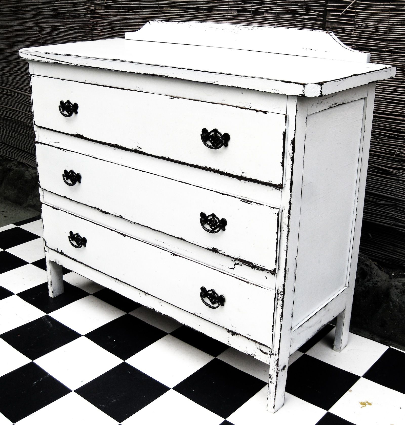 Vintage Chest Of Drawers In Distressed White The Not