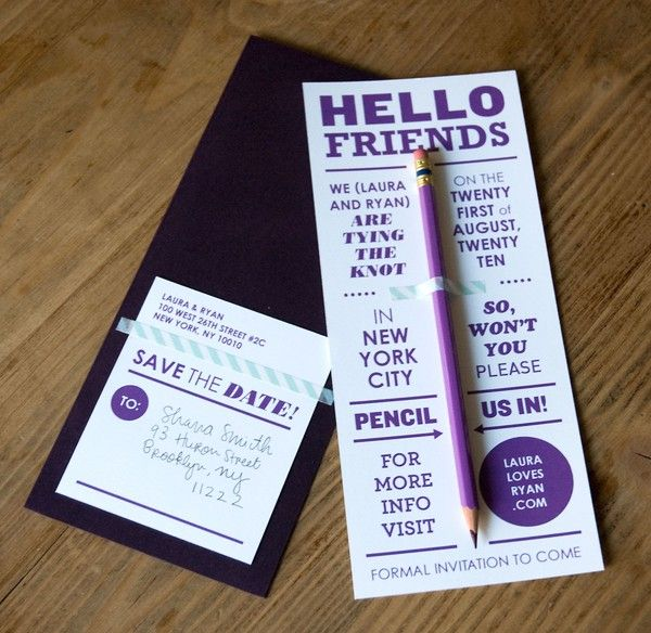 Creative Ideas For All Things Wedding | Pencil Us Inu0027 A Play On Words Is A  Fab Idea For A Wedding Invite!