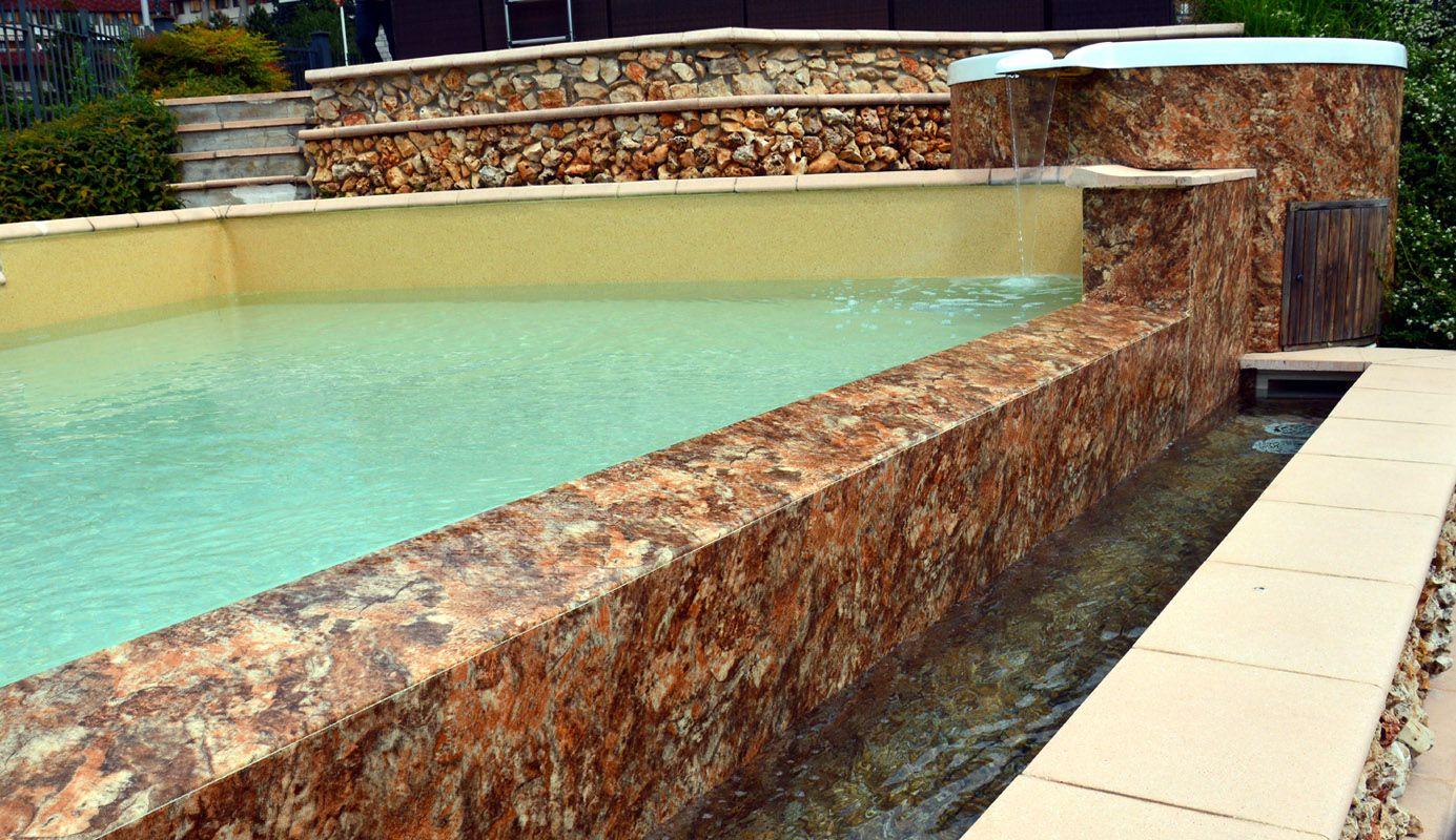 Piscina desbordante realizada con membrana alkorplan touch for Piscinas de arena