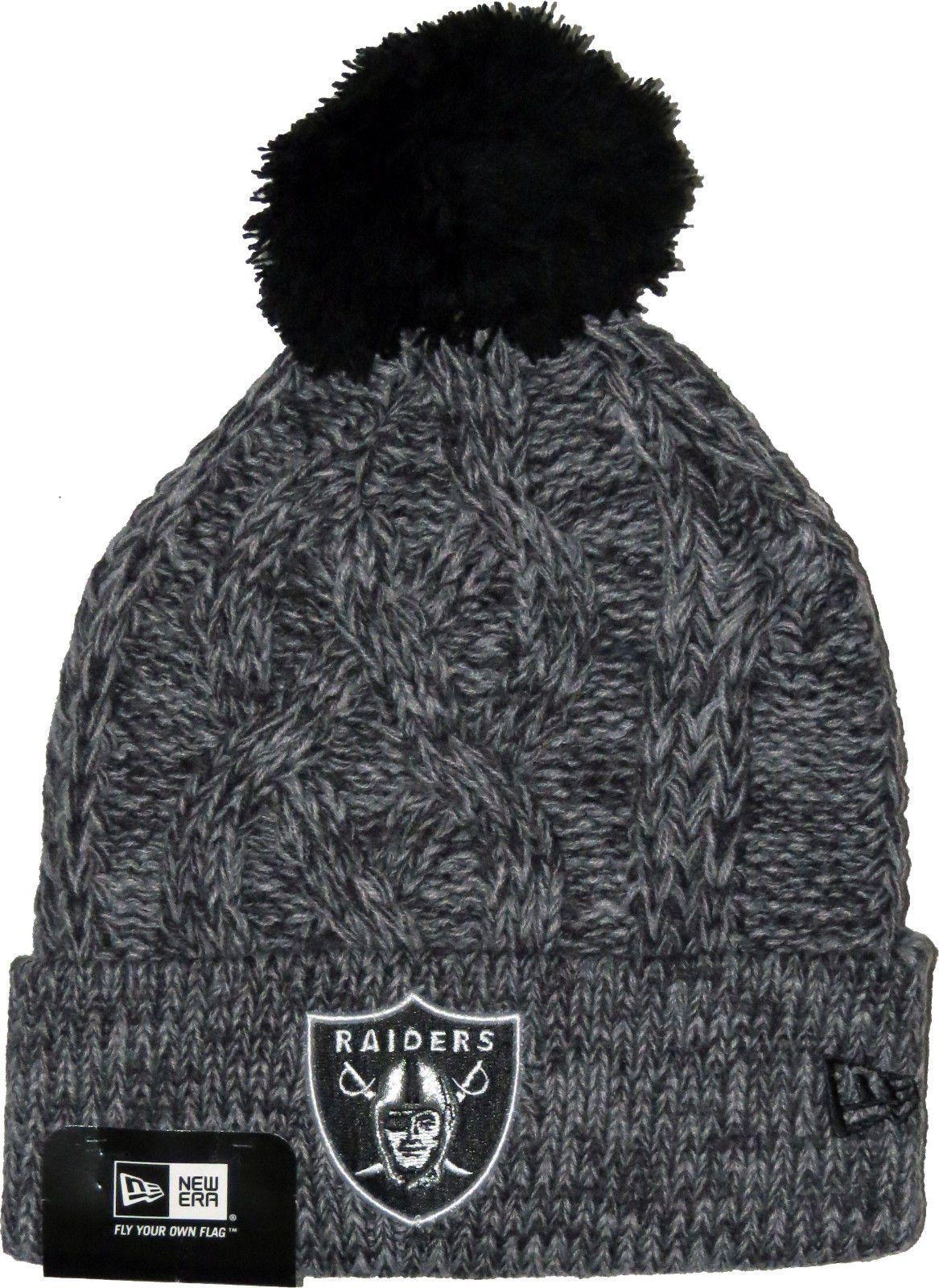 cbed2e739 Oakland Raiders Era Nfl Team Graphite Bobble Hat