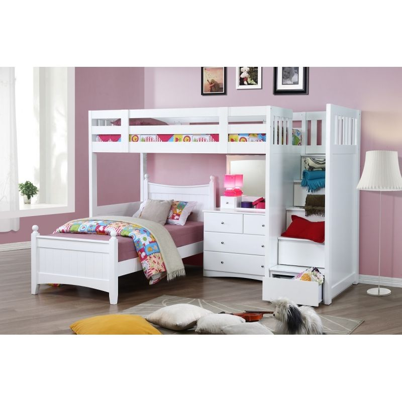 King Single Bunk Beds Desk Google Search Kamar Adek Pinterest