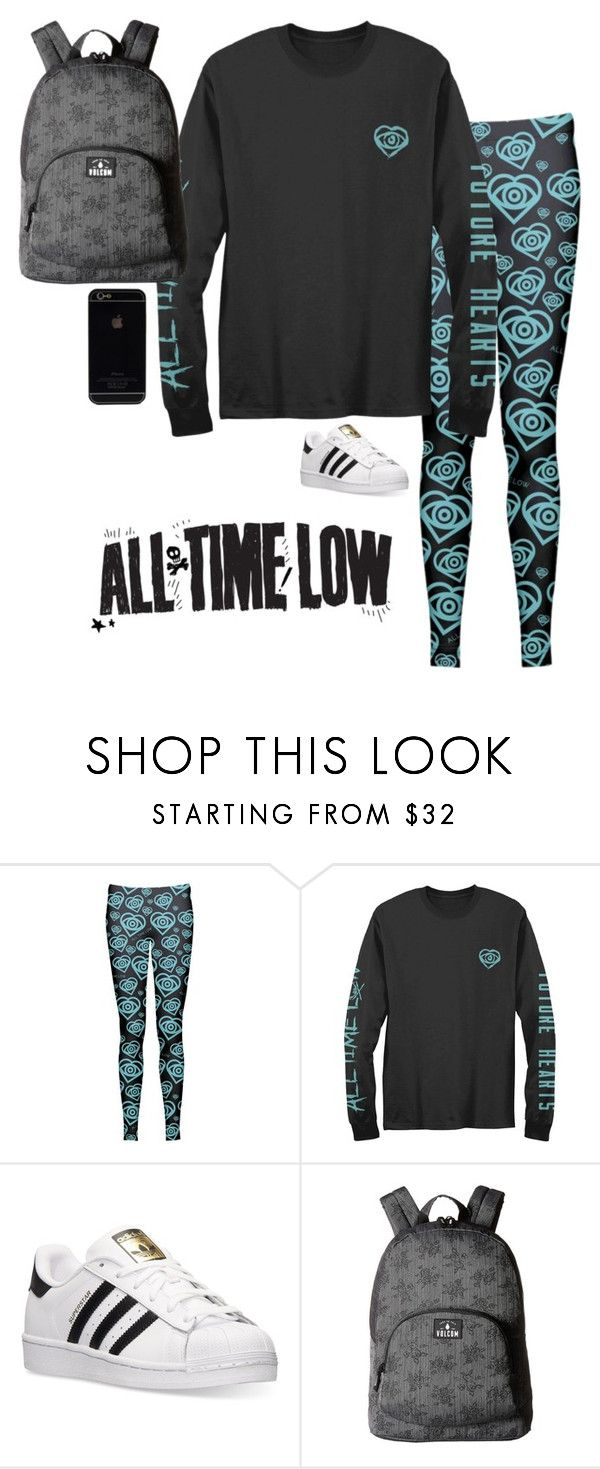 """""""All Time Low"""" by princessmaniac-5sos ❤ liked on Polyvore featuring adidas and Volcom"""