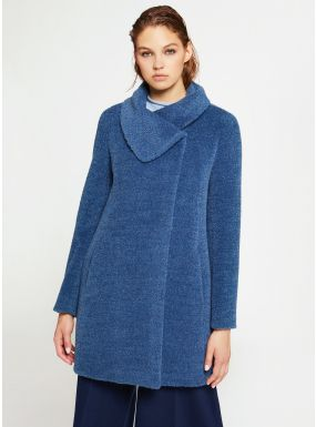 Giacca Icons azzurra in alpaca e lana | Giacca, Cappotti e