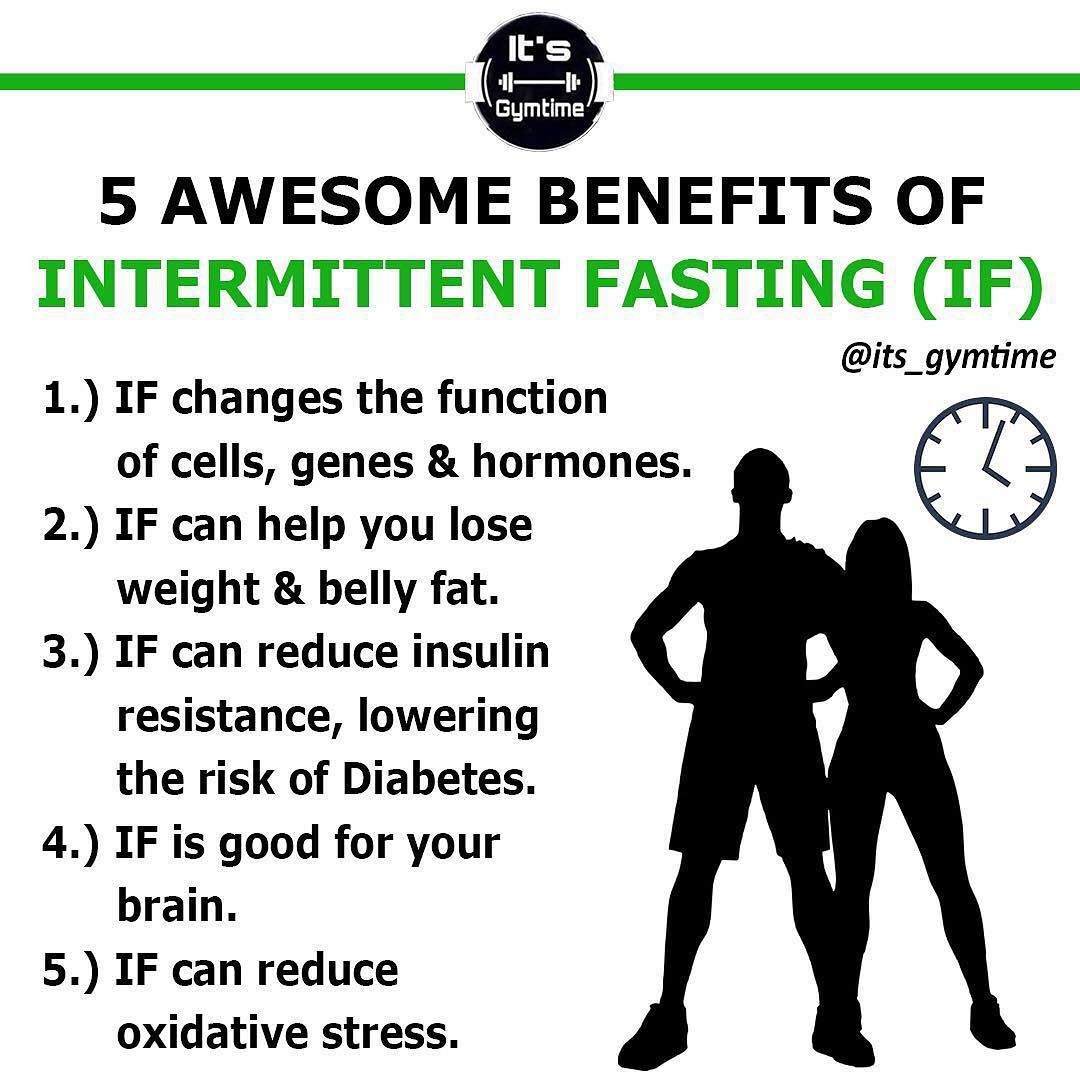 5 AWESOME BENEFITS OF INTERMITTENT FASTING (IF) ⏳ Presented by @its_gymtime  🔥 | Intermittent fasting, Lower insulin levels, Hormones