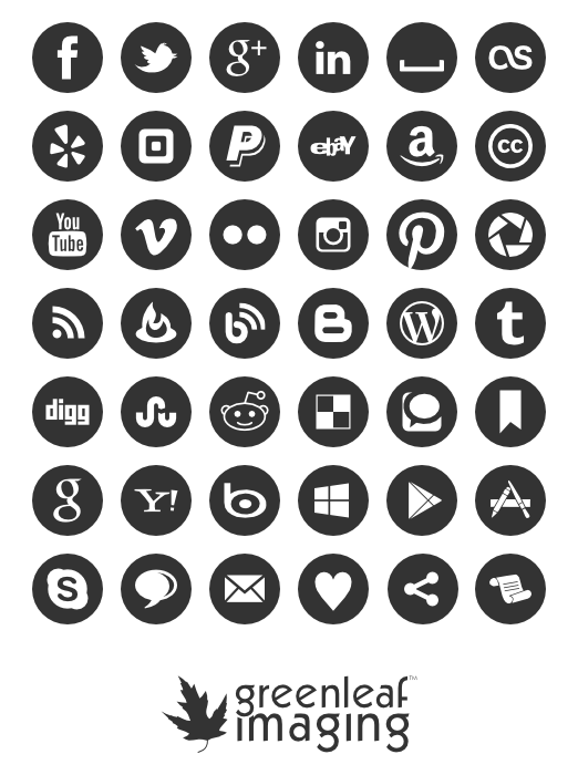 Social media icon set by greenleaf imaging free download for Free resume icons