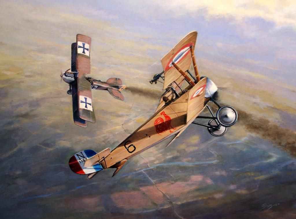 Ace with the wooden leg, by Terry Jones (Nieuport 11)