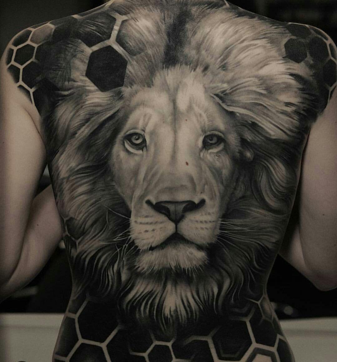 Pin by Richard McBride on talk about TATT'S. Lion back