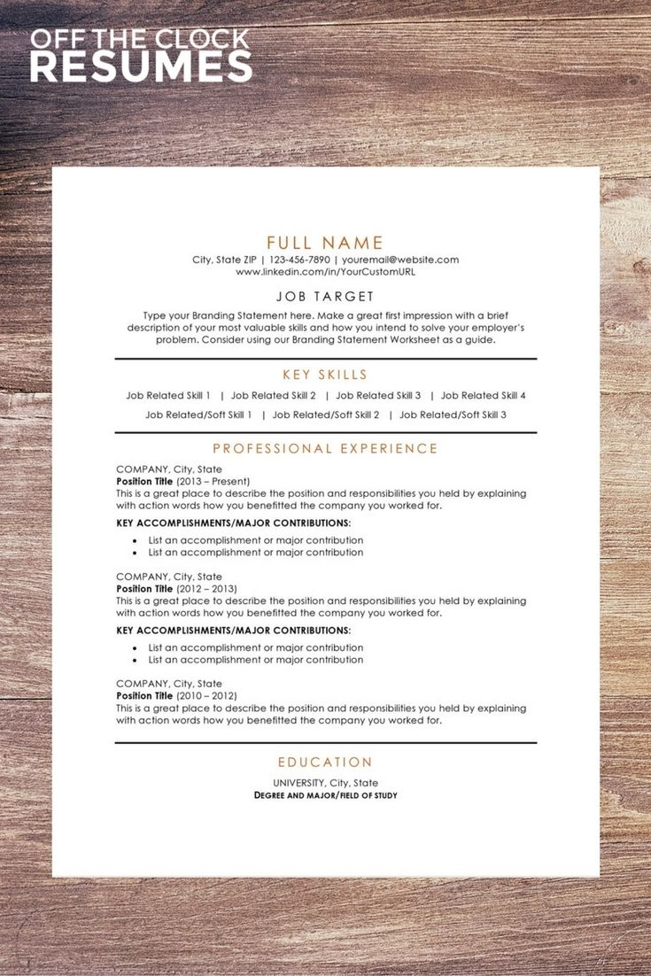 Free Resume Template  Our Most Popular Resume Design Is Now