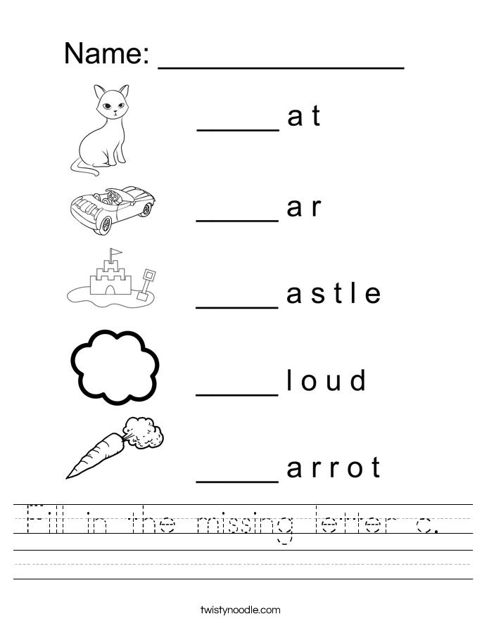 Letter C Worksheets Preschool Worksheets Tataiza Free Printable