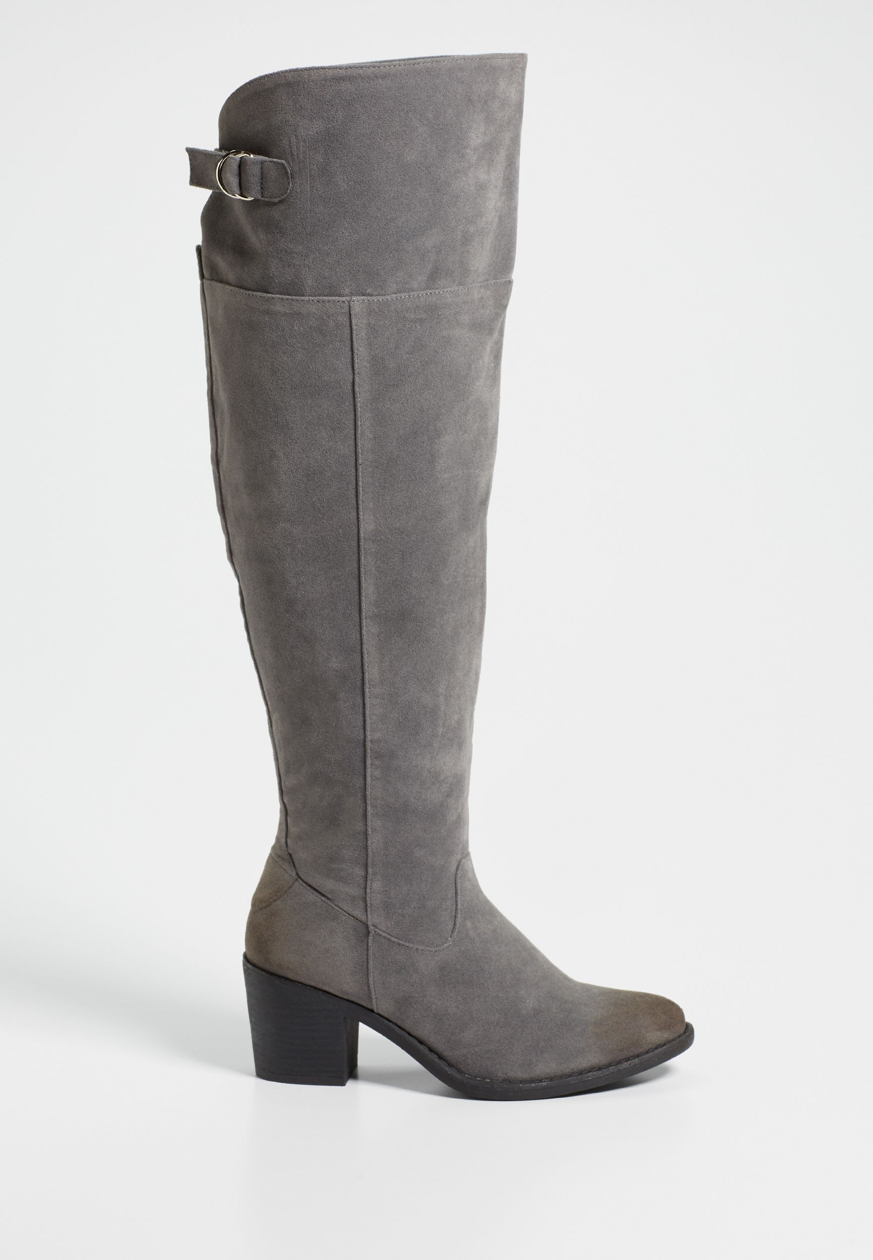 Sabrina wide calf faux suede over the
