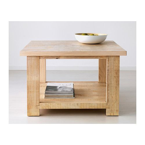 REKARNE Mesa de centro IKEA Mesa de madera maciza de pino teñida de ...