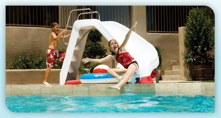 Residential Pools With Slides Swimming Pool Slide Rock G
