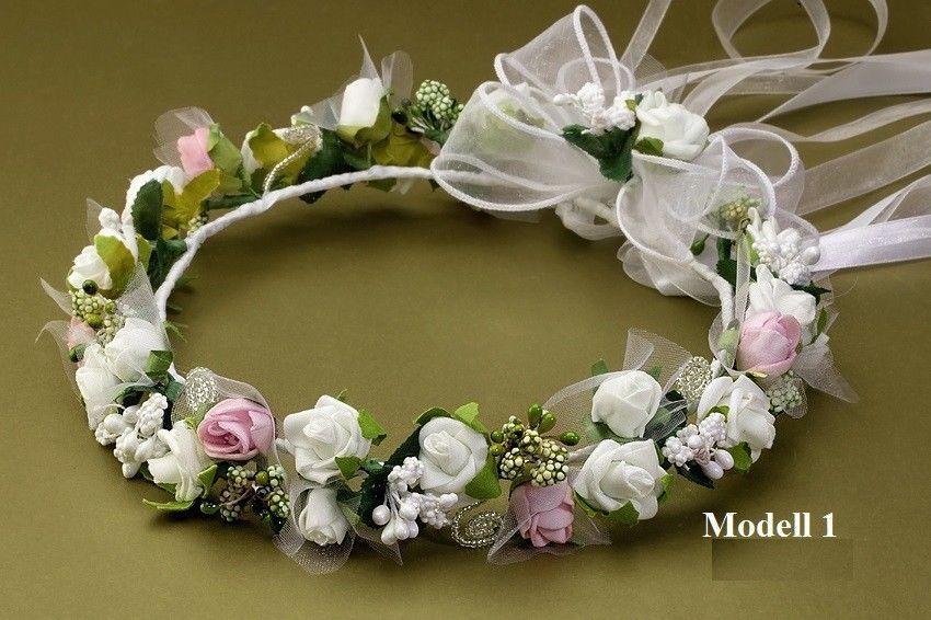 Kopfschmuck für Hochzeit//Kommunion Lila//Weiß
