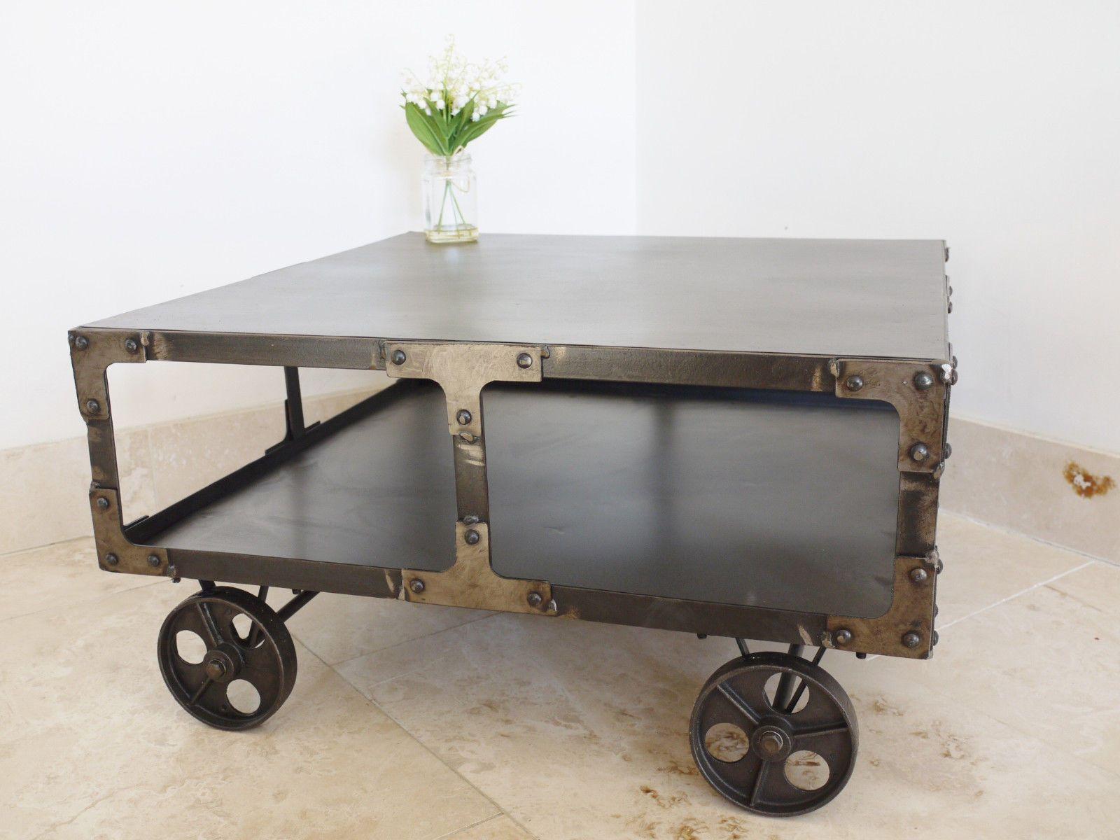 urban loft furniture. Industrial Urban Loft Furniture Metal Side End Coffee Table Cart On Wheels 69cm