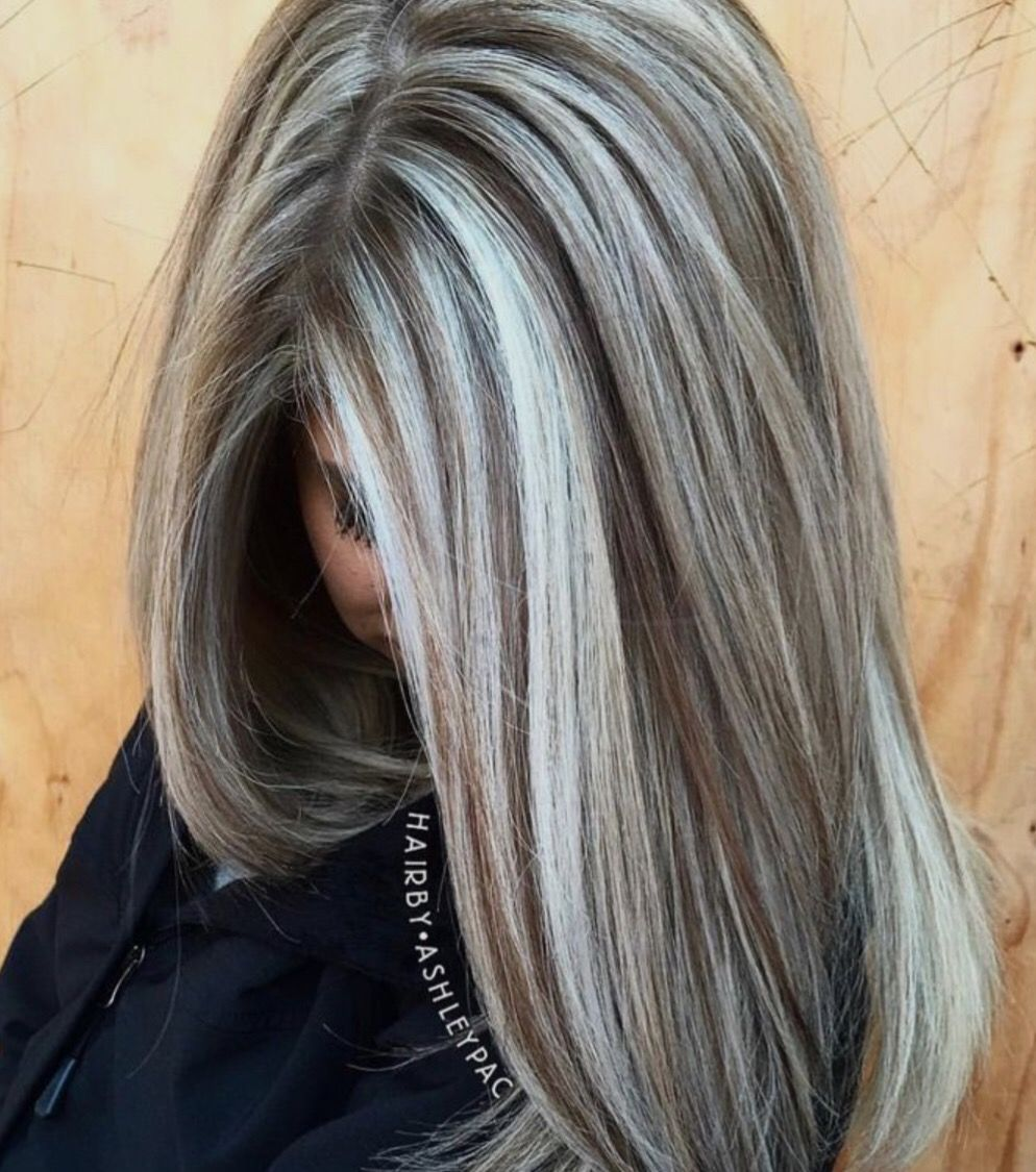 silver and brown.sexy. hair
