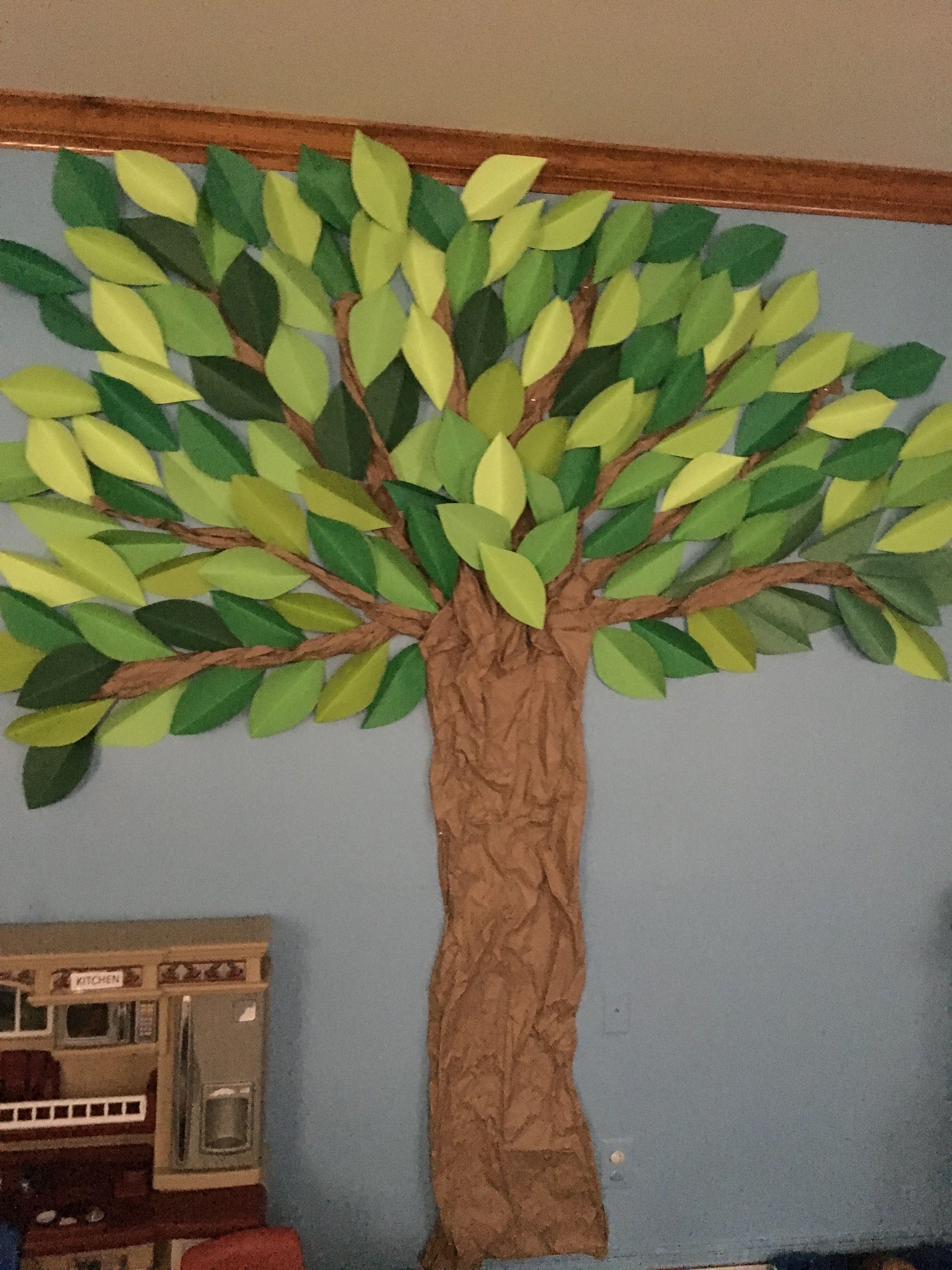 Arbol para salon de clases rbol de cart n decoraci n - Arboles decorativos ...