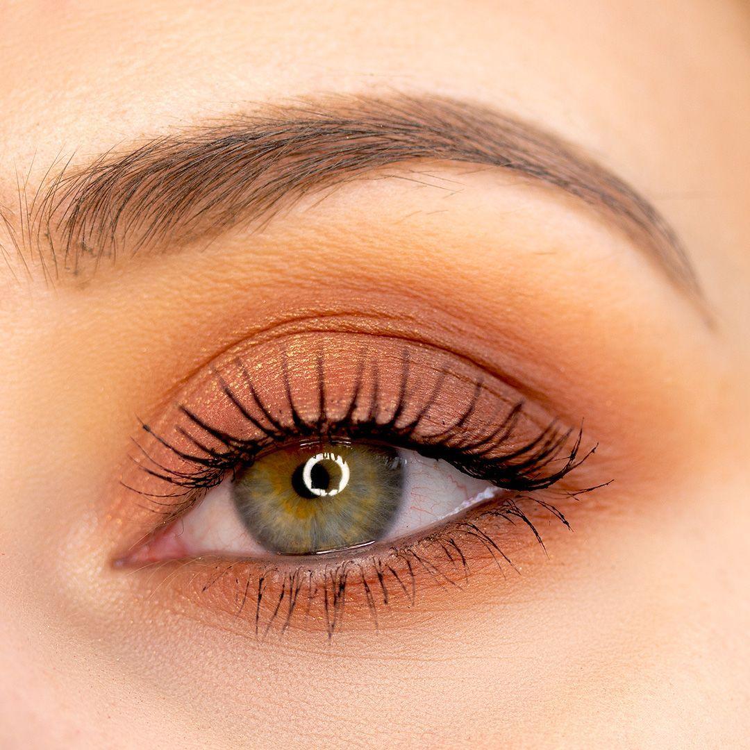 Photo of Eye makeup with eyeshadow drugstore – simple, warm, shimmering eyes -…