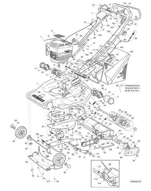 Hayter Harrier 48 485S001001 SPARES ORDERING DIAGRAMS