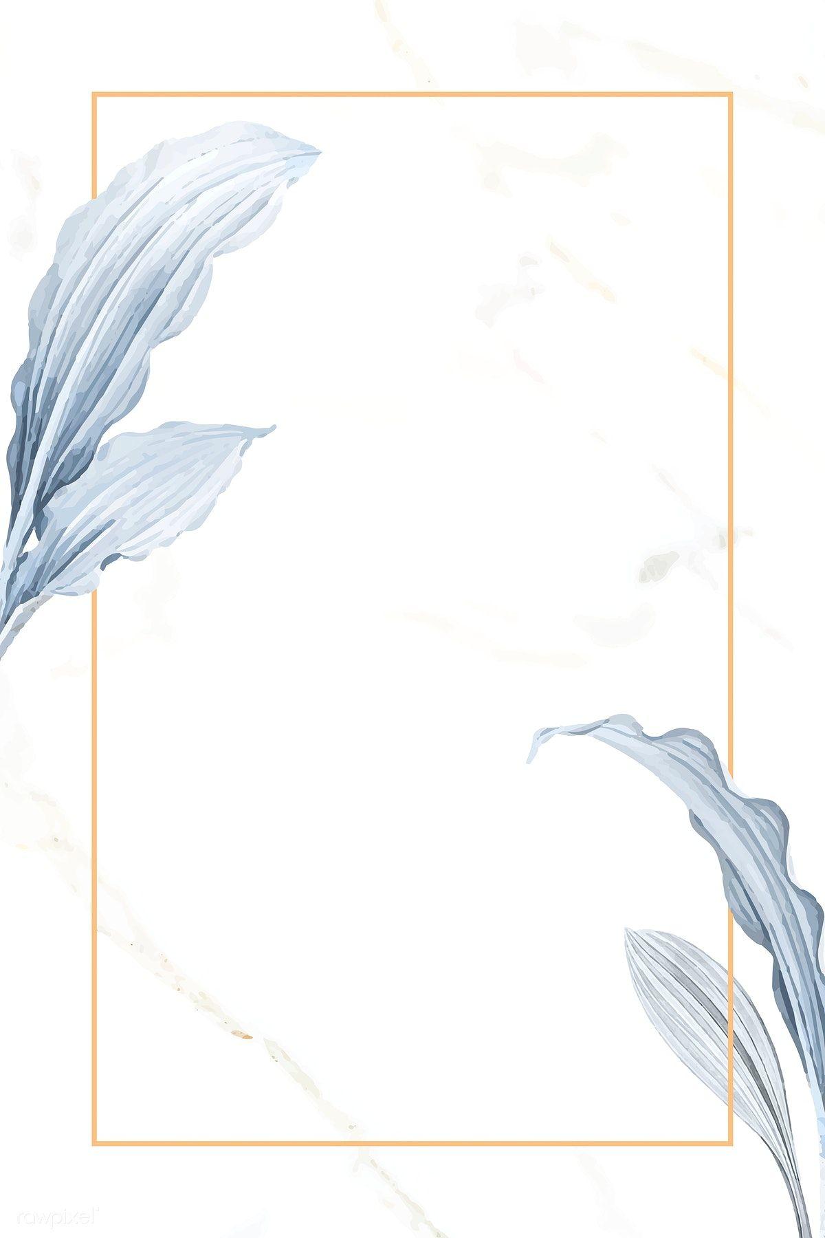 Download premium illustration of Leafy rectangle frame design vector