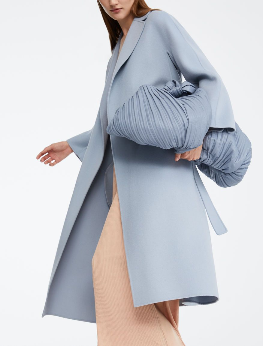 Max Mara Esturia Light Blue Wool Coat Outfit Grigi Stile Minimal Cappotto Di Lana