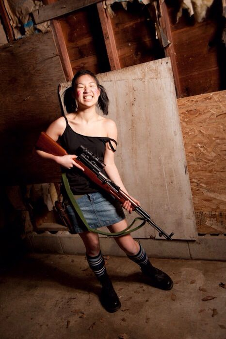 Girl with a Sks | Sks rifle | Sks rifle, Guns, Wonder woman