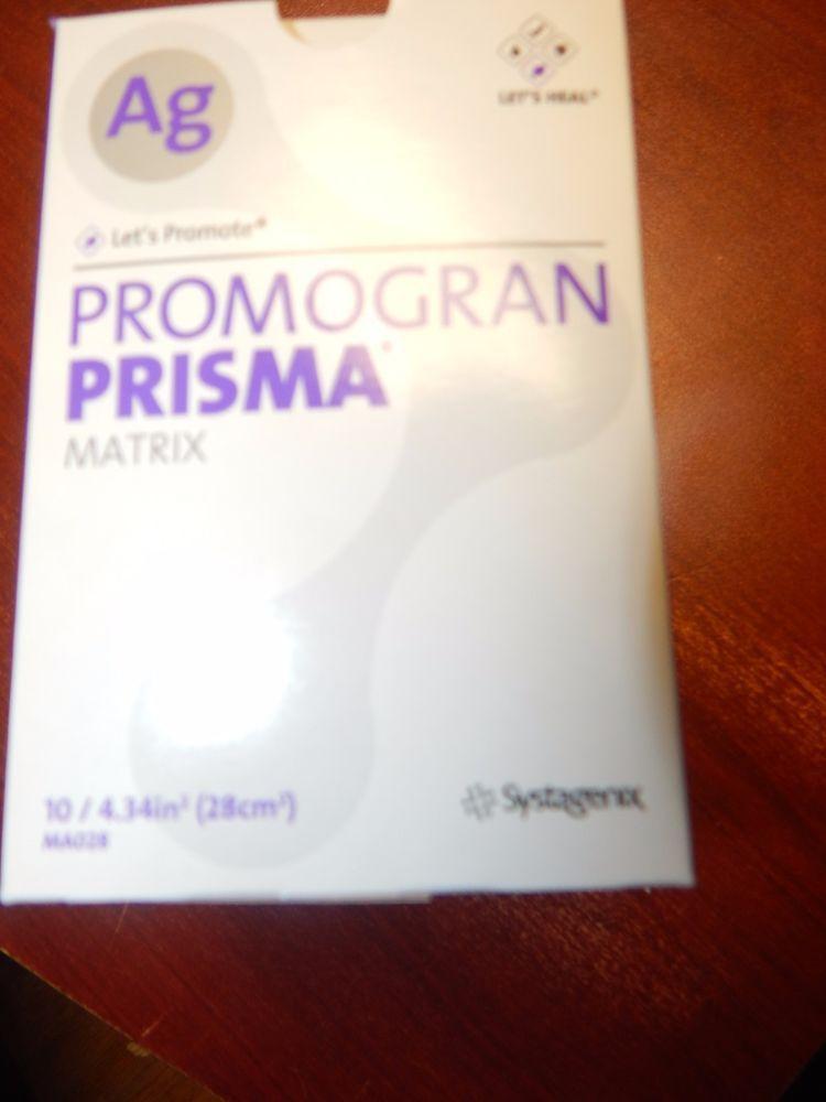 "AG Promogran Prisma Matrix 4.34"" 10/Box #MA028 Systagenix Expires 10/2015 #AG"