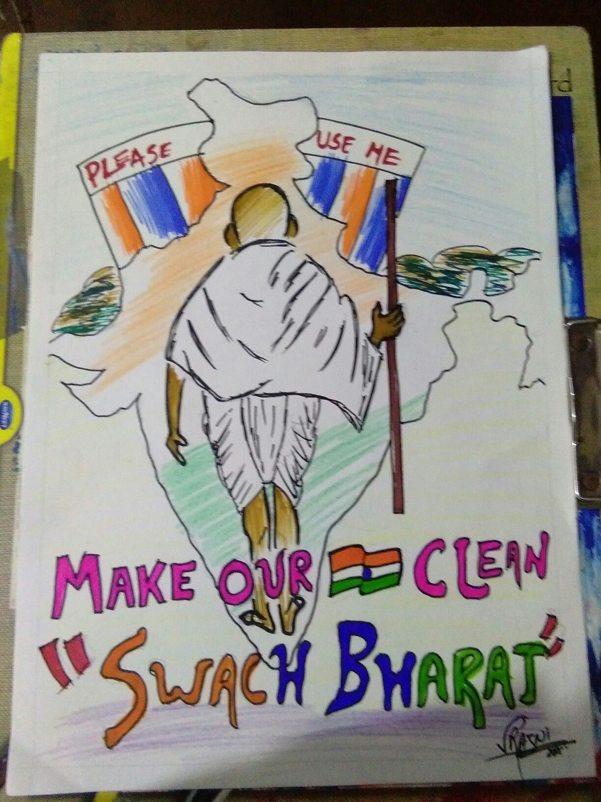 Art competitions · pencil drawings · swach bharat dream drawing drawing drawing drawing for kids poster on water