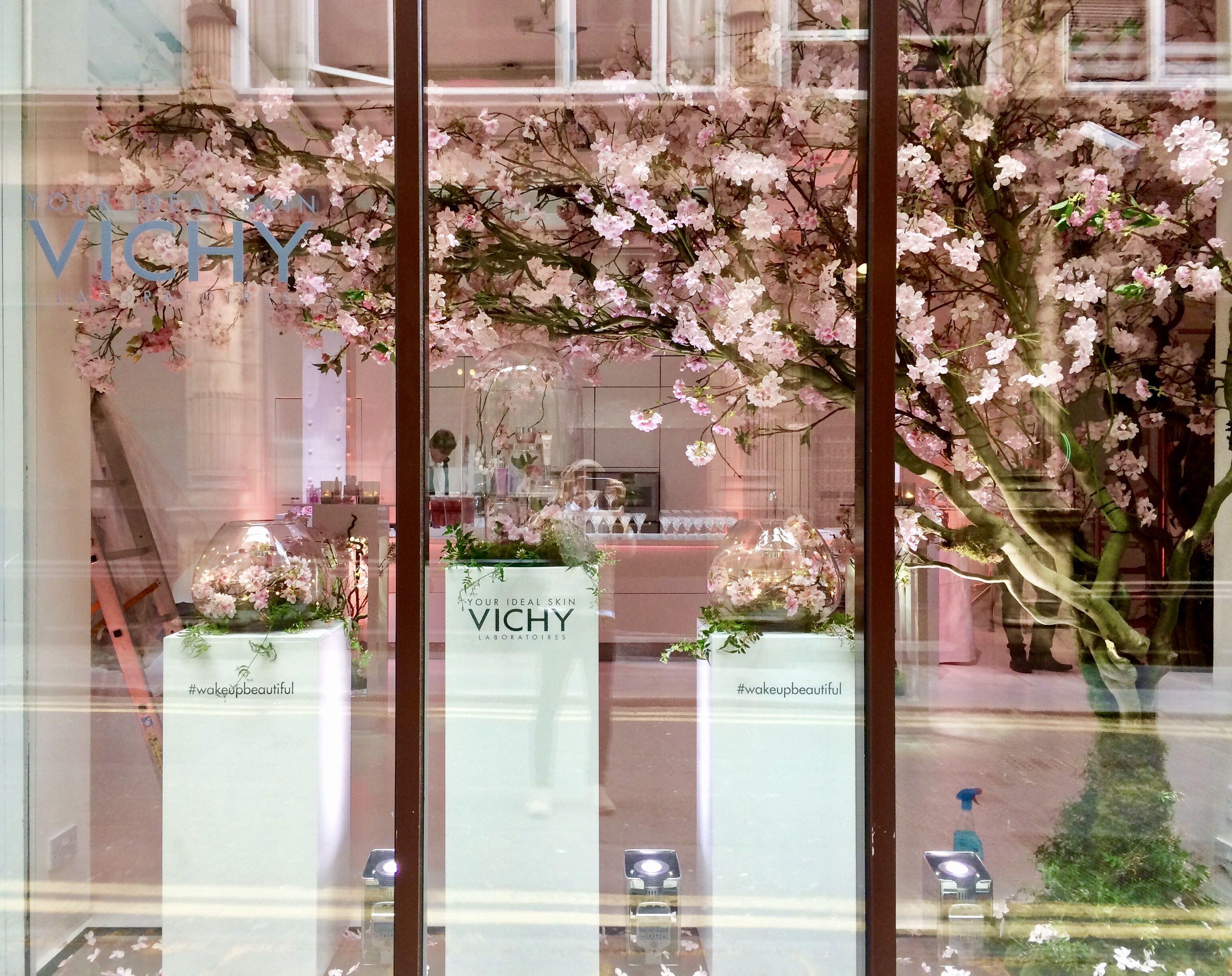 Cherry Blossom Window Display By Donaldo Radovich Artificial Cherry Blossom Tree Plant Wall Blossom Trees