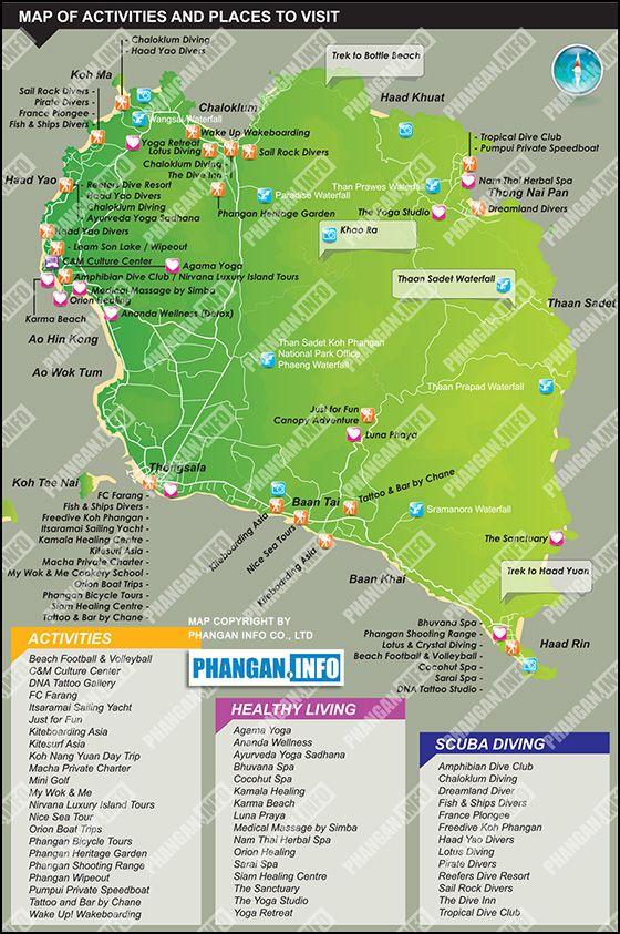 Koh Phangan Thailand Map.Adventure And Activities Koh Phangan Thailand Thailand