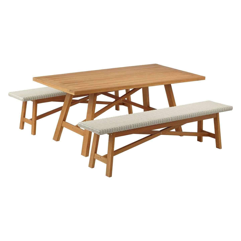 John lewis stockholm seater garden dining table u bench set fsc