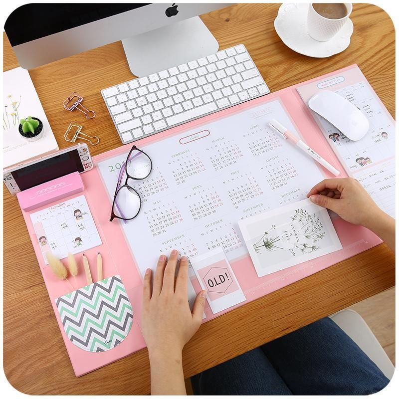 Candy Color Multifunctional Desktop Mat Desk Protector Office Supplies Diy Desk Mat